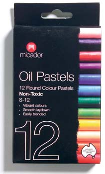 Oil Pastels - Micador Standard 12 Colours