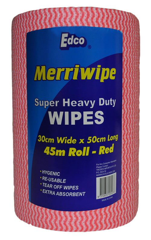 Merriwipe Super Heavy Duty Roll Red