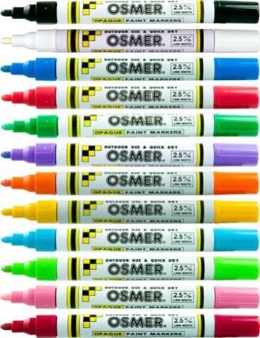 Osmer Opaque Paint Marker Broad Tip - Black