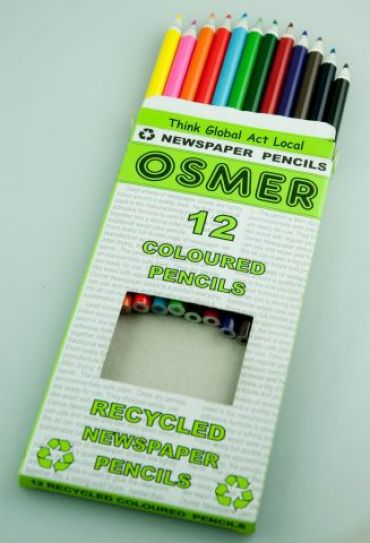 Enviro Colour Pencils - Osmer Full Pack of 12 (Recy. Newspaper)