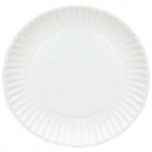 Uncoated Paper Plates 235mm Pack of 50