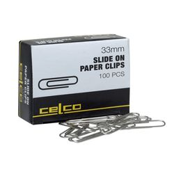 Paper Clip Large 33mm Pack of 100