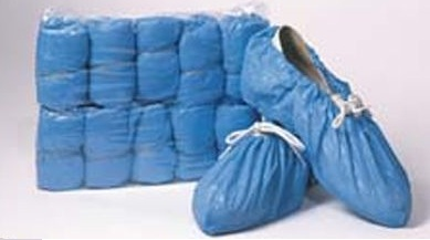 Shoe Covers PVC Blue Pack of 50 Pairs