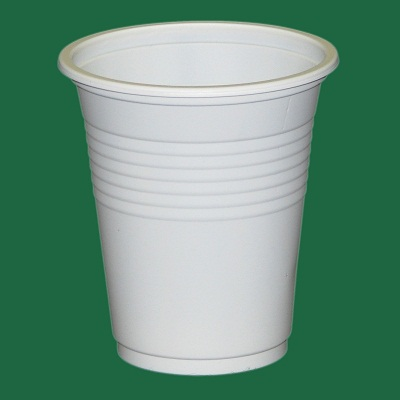 Plastic Disposable Cups 200ml White Sleeve of 50