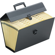 Portafile Expanding File Case Black