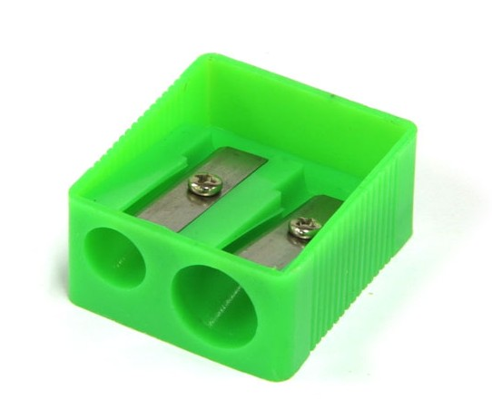 Pencil Sharpener Plastic 2 Hole
