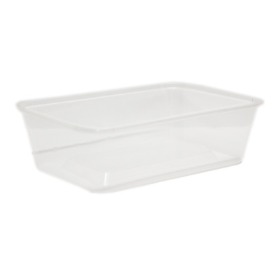 Rectangle Plastic Takeaway Base 1000ml Pack of 50