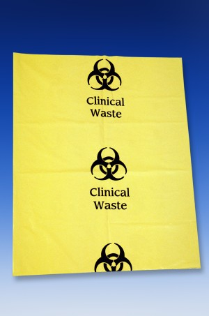 25L Clinical Waste Bags 30um Pack of 50