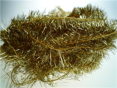 Tinsel Yarn 25mm Gold