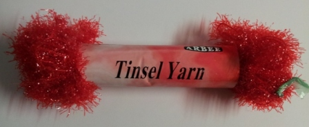 Tinsel Yarn 25mm Red