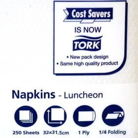 Tork/Costsaver 1Ply Lunch Serviettes Pack of 250