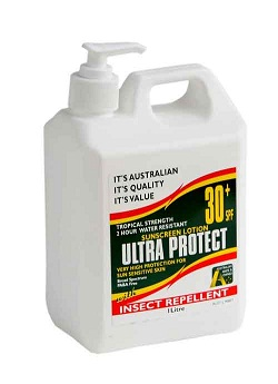 Ultra Protect SPF30+ Sunscreen & Insect Repellent 1L Pump Pack