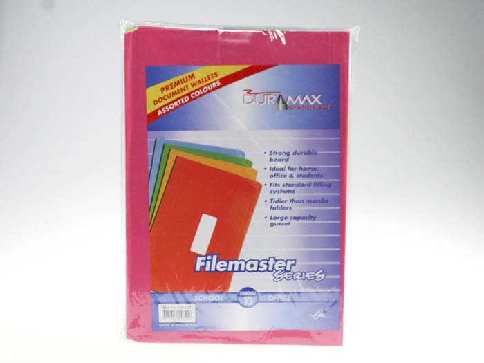 Document Wallets Pack of 10 (2x5 Colours)