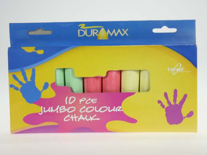 Sidewalk Chalk 5 Colours Pack of 10