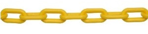Yellow Plastic Safety Chain per Metre