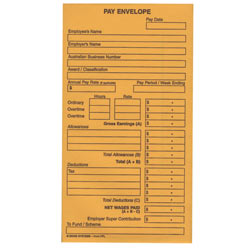 Pay Envelope Zions Printed 145x95mm Pack of 50